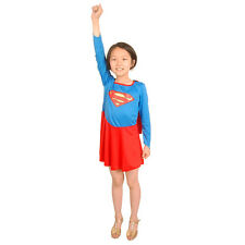 Classic Supergirl Superhero Superman Fancy Dress Up Girl Kids Costume Halloween