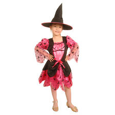 Childrens Girls Classic Halloween Witch Fairy tale Fancy dress costume Scarlet