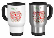 Personalised Travel Mug with Word Art Apple,Teacher Gift, your own words