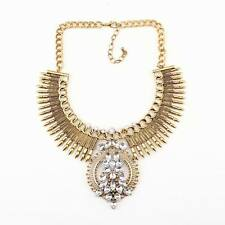 crystal necklace choker pendant statement chunky vintage alloy necklace women