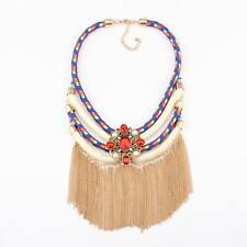 chunky necklace tassel pendant choker maxi rope chain statement necklace women