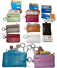 New Leather change purse, Zip coin wallet, Coin purse, 2 pocket purse w/key ring