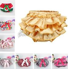 Toddler Infant Baby Girls Ruffle Panties Bowknot Bloomers Diaper Cover Shorts