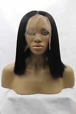 """14"""" - 26"""" Heat resistant Lace front wig Synthetic hair Bob straight Black color"""