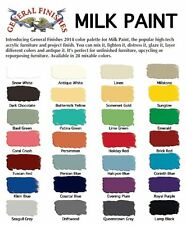 General Finishes Milk Paint- 28 Colors Available- Pint, Quart or Gallon