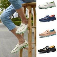 Men's Fashion Soft PU Leather Loafer Slip on Casual Sneakers Driving shoes 39-44