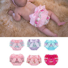 Baby Girl Lace Ruffle Bloomers Panty Tulle Shorts Diaper Nappy Cover Pants 3-24M