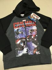 MARVEL CIVIL WAR CAPTAIN AMERICA IRON MAN HOODIE JUMPER TOP SIZES 8 10 NWT NEW
