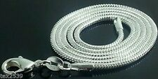 Ladies & Men's Silver overlay 2mm Snake Chain Necklace Gift 18, 22, & 24 Inches