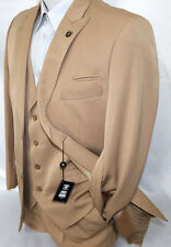 Stacy Adams Count Tan Vested Classic Fit Suit