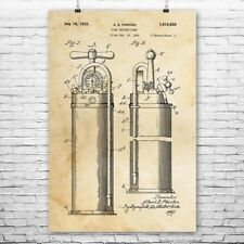Fire Extinguisher 1933 Poster Patent Art Print Gift Fireman Firefighter Rescue