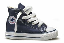 Converse Star Hi Top Navy Blue White Infant Toddler Boys Girls Shoes Size 4-10
