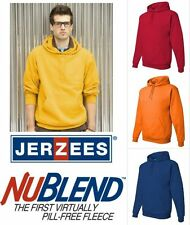 JERZEES - NuBlend Pullover Hooded Sweatshirt - 996MR Sizes S-4XL 30 Colors