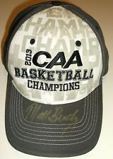 James Madison Dukes Basketball 2013 CAA Champions Cap Hat~Matt Brady Autographed