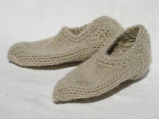 "Hand Knitted 100% Wool Socks SLIPPERS For Baby Girl or Boy (~5 1/2""long) #VA"