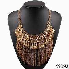 new chunky chain gold plated alloy statement pendant necklace for ladies jewelry