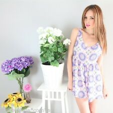 sale geo DAISY WHEEL SLOUCHY BACKLESS TRAPEZE PLAYSUIT JUMPSUIT 6 8 10 12