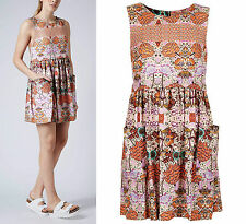 Topshop Folklore Floral Vintage Look Shift Dress