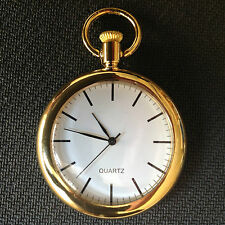 POCKET WATCH NO.14 CLASSIC PLAIN GOLD COLOURED FOB WATCH