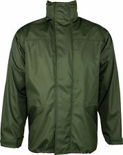 Tempest Waterproof Windproof Breathable Lightweight Hunting Fishing Green Jacket