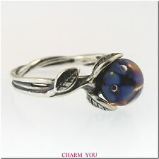 AUTHENTIC TROLLBEADS THE BLUE FLOWER RING STERLING SILVER