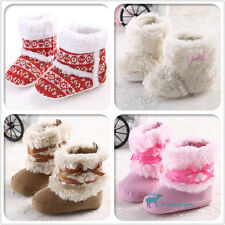 new Girl Boy Non-Slip Toddler Baby Shoes Winter Warm Snow Soft Sole Boots 3 Size