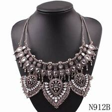 luxury chain vintage ally chunky statement crystal pendant necklace for women