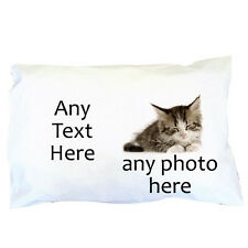 Personalised Photo Pillowcase ~ Any Photo ~ Any Text ~ Great gift  Pillow case