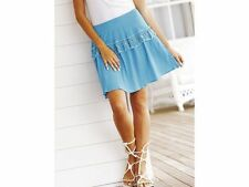 BNWT Ladies South Embroidered Crinkle Skirt Size 16-18