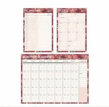 Journal Schedule Planner Note Paper Book Monthly Weekly Daily Times Organizer #Y