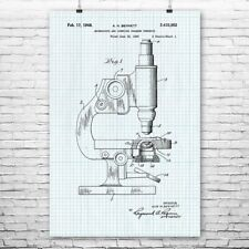Microscope Poster Patent Art Print Gift Biology Biologist Science Scientist Wall