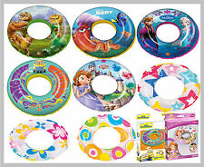 New Inflatable Swim Rings, Multiple Designs Blow Up Pool Swimming Ring