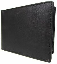 New London Stitch Mens Leather RFID Protected Flip Up Passcase Bilfold Wallet