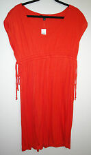 NWT Womens Banana Republic Orange Dress Medium or L arge