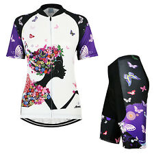 Women Cycling Ride Short Sleeves Shirt Quick Dry Jersey MTB Bike Bicycle Sets