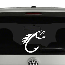 Fly Fishing Fish Hook Vinyl Decal Sticker Car Window