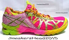 ASICS GEL NOOSA TRI 9 WOMEN'S RUNNING SHOES GOLD RIBBON  IRISDECENT PINK