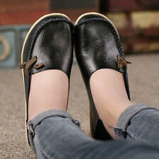 Women Genuine Leather Loafers Moccasin Casual Slip on Flats Boat Oxfords Shoes