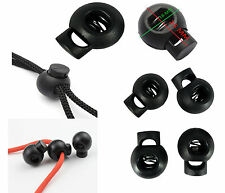 Black Bungee Shock Cord Ball Stoppers Lock End Toggle Cord With Metal Spring New