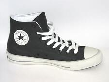 CONVERSE CT LEAGUE HI Black Canvas Leather Trainers 148638C