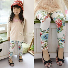 New Toddlers Kids Girls Charming Floral Cotton Leggings Pants 2-7 Y P170