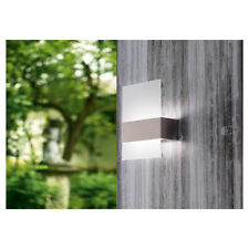 Eglo Nadela LED UP DOWN WALL LIGHT Outdoor Stainless Steel-With or Without Glass