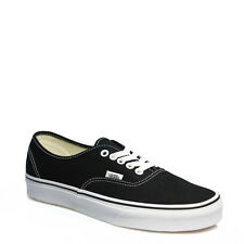 Vans Unisex Mens Womens Black Lace Up Authentic Canvas Low Trainers Shoes