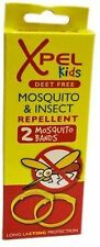 2/4/6/8 XPEL KIDS MOSQUITO & INSECT REPELLENT BANDS - DEET FREE