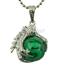 Women Pendant Chain Necklace Ball Dragon Punk Claw Gem Accessory Fashion Jewelry