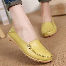 Women Flats Genuine Leather Loafers Moccasin Slip on Casual Boat Oxfords Shoes