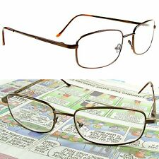 "BIFOCAL Reading Glasses  SPRING HINGE Metal Frame 125- 400 Quality ""Freedom"""