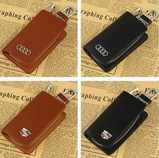 Car Leather Key Bag Remote Control package Auto Key Chains Wallet Bag Key Case