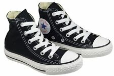 NEW UNISEX YOUTH KIDS CONVERSE ALL STAR HI BLACK WHITE CHUCK TAYLORS