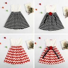 Kids Girl Princess Vintage Dress Baby Wedding Party Pageant Sleeveless Dress New
